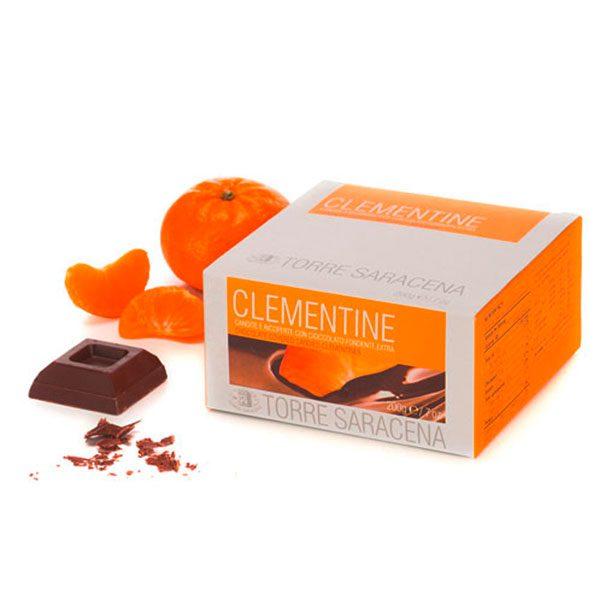 Kandierte Clementinen mit Schokoladenüberzug